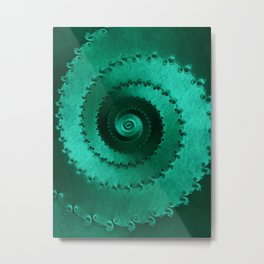 Green Filigree Metal Print