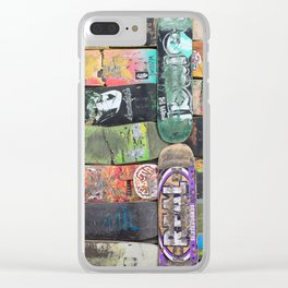 Boards were made to  be broken Clear iPhone Case