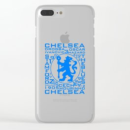 Chelsea Mix Words Clear iPhone Case