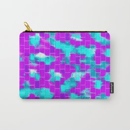 BRICK WALL SMUDGED (Purples, Violets & Turquoises) Carry-All Pouch