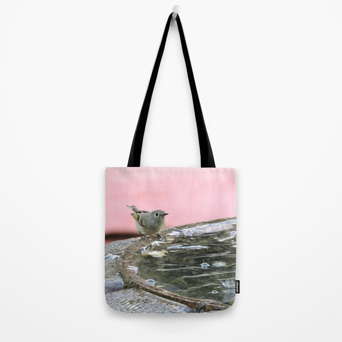 Kinglet at the Basin Rim Tote Bag