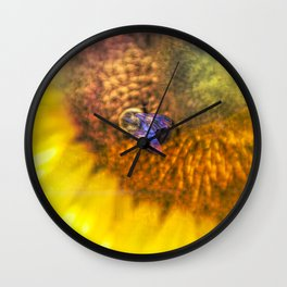 Bold Sunflower with Bumblebee Wall Clock