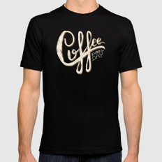 Coffee Everyday SMALL Black Mens Fitted Tee