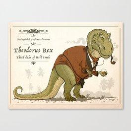 Gentleman Rex Canvas Print