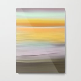 Bright Sunrise Abstract Seascape Metal Print