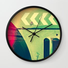 Road Roller Chevron 02 - Industrial Abstract (everyday 18.01.2017) Wall Clock