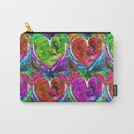 Colorful Pop Hearts Love Art By Sharon Cummings Carry-All Pouch