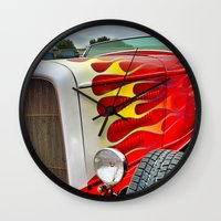 ford Wall Clocks featuring 32' Ford by Dave Johnson