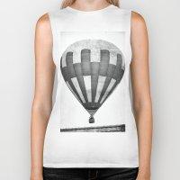 hot air balloon Biker Tanks featuring Hot Air Balloon by Rose Etiennette