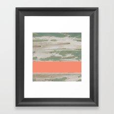 Wood Color Block Framed Art Print