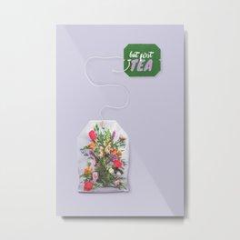 FLOWER TEA Metal Print