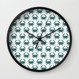 Pattern: Blue Crab Fest! ~ (Art Copyright 2013) Wall Clock