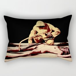 Damsel in distress. Image in Cartoon Drawing Look Rectangular Pillow