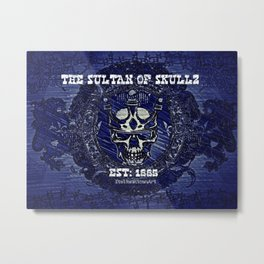 The Sultan Of Skullz Metal Print