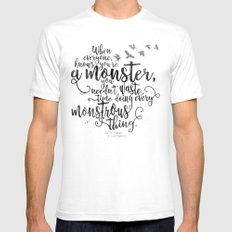 Six of Crows - Monster - White SMALL White Mens Fitted Tee