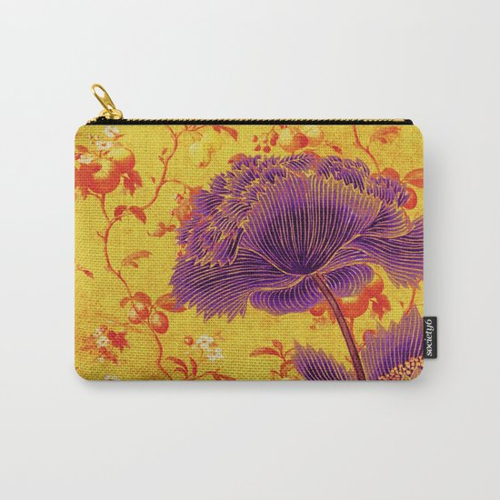 floral chinoiserie Carry-All Pouch