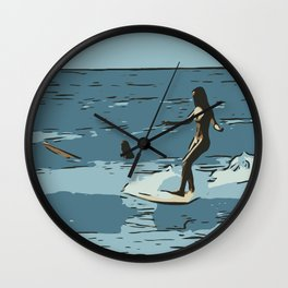 Child of the sea Wall Clock