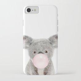 Bubble Gum Baby Koala iPhone Case