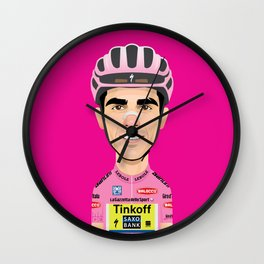 Alberto Contador Giro cartoon Wall Clock