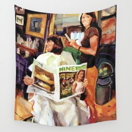 Remington Reese styles Rosemary's 'do at Natural Creations, Newport Wall Tapestry