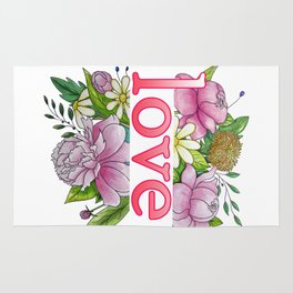 love and flowers Rug