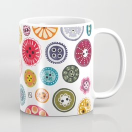 Vintage Button Love Coffee Mug