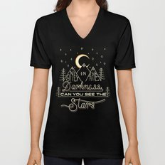 Only in the Darkness Unisex V-Neck