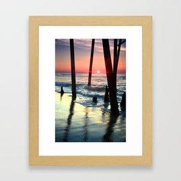 Under Pier Framed Art Print