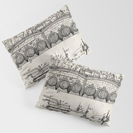 Brewing Beer Patent - Beer Art - Antique Pillow Sham