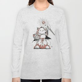 White Mage Munchkin Cat Long Sleeve T-shirt