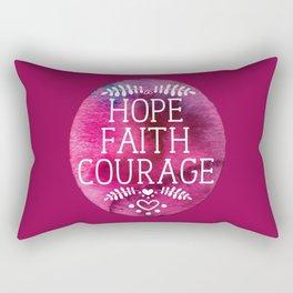 Hope, faith and courage Rectangular Pillow