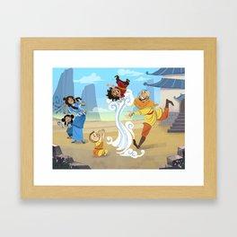 Avatar Family Vacation Framed Art Print