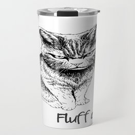 Fluff Off Angry Cat Travel Mug