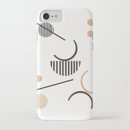Hera - minimalist art print, abstract art, geometric, earthtones, dots, lines, minimalism iPhone Case