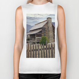 Appalachian Mountain Cabin Biker Tank