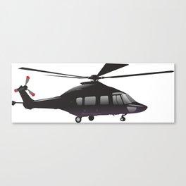 Black European Helicopter Canvas Print