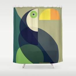 Mid Century Toucan Shower Curtain