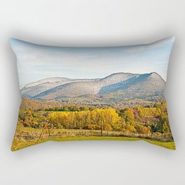 Autumnally valley and snowy mountains Rectangular Pillow