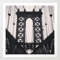 Manhattan Bridge. New York City. Art Print