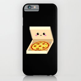 Pizza heart smiling kawaii pizza iPhone Case
