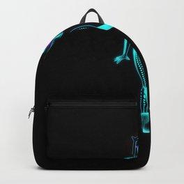 Glowing neon cat girl Backpack