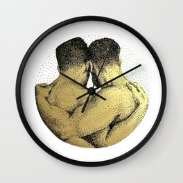 The Pair - NOODDOODs (gold doesn't print shiny) Wall Clock