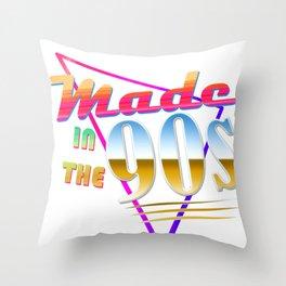 """Made in the 90s"" Vaporwave design. Retro 90's Birthday Gift design Throw Pillow"