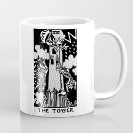 Modern Tarot Design - 16 The Tower Coffee Mug