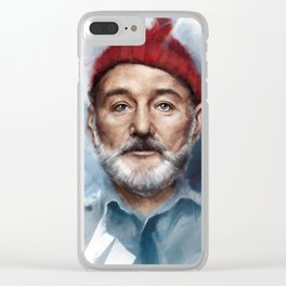 Steve Zissou Clear iPhone Case