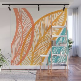Tropical Flora - Retro Palette Wall Mural