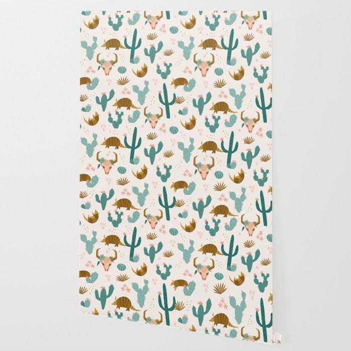 Armadillos in the Desert Wallpaper