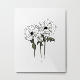 Anemone set Metal Print