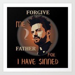 Preacher Jesse Custer - Forgive Me Father Art Print