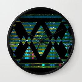 Black Skyline Wall Clock